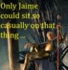 Jaimie on throne
