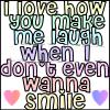 Laugh when no smile