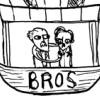 peaches in the creases of a plastic bag: Beaton: Bros