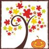 Blue: NF :: Fall :: Tree with Pumpkin