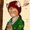 Rowan aka: The Seticat: * cat - sipping tea - milena