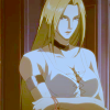 Trish: Miff →arms crossed may be glaring at you