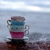 rainy tea party