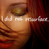 Kristen - i did not resurface