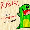 rawr, dinosaur love