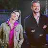 Mark and Lexie; Hip Bump
