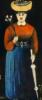 woman's portrait by N.Pirosmani