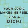text - fuck logic, boosh - fuck logic
