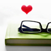 Glasses & Book Love