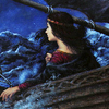 Irene in a boat