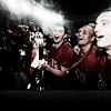 football - darklit manutd celebrating