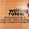 Writing Exageration