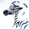 зебра в порыве