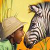 зебра с детем