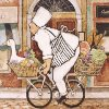 Chef on bike