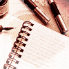 Notebook and Pens by sallymn