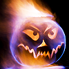 Ith: Holiday - Halloween Flaming Pumpkin