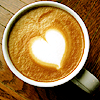 coffe latte heart