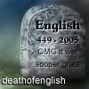 Death of English