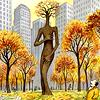 autumn: bare tree