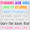 Oh snarky one!: Friends