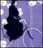 Victor bicycle ad - purple background
