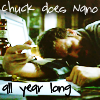 Chuck does NaNo all year long