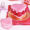 heart-shaped macaroon