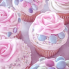 lovely rose cupcakes