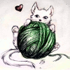 yarn, kitty