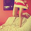 Girl Legs on Bed