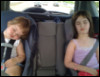 Kiddos sleeping in car