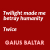 battlestar galactica / twilight; ...