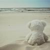 (stock) teddy on the beach