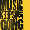 text: music keeps me going