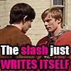slash writing itself