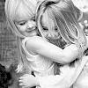 Saliha: sisters hug