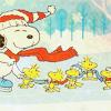 Cinna: christmas: snoopy & woodstock skating