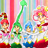 amazoness, ljchocofeather, sailor moon, sailor quartet