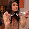 Air quotes, Carly2, Carly Doesn't Approve, Yeah Right, Angry