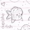 An old diary.: Cupcake fish
