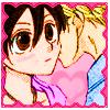 TamaHaru cheek kiss