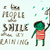 chiara: text: smile rain