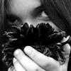 girl, flower, eyes