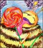 акварель, пчелка, творчество