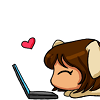 TL/Katy (no, I'm not 'shipping myself. Shush.): full of happy and laptops