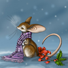 sad mouse christmas