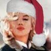 marilyn w santa hat