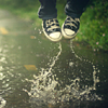 Converse Jump in Puddle