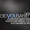 Jules: [text] you changed my life